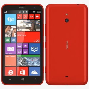 nokia lumia 1320 red 3d x