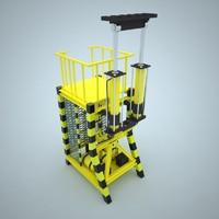 platform hydraulic 3ds
