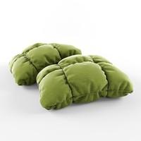 3d pillow poufs model