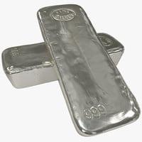 3d silver bar
