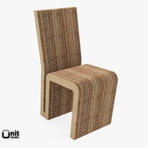 3d max easy edge chair frank