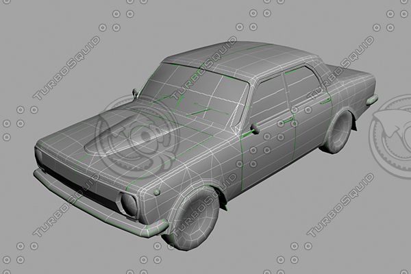 3d model of volga