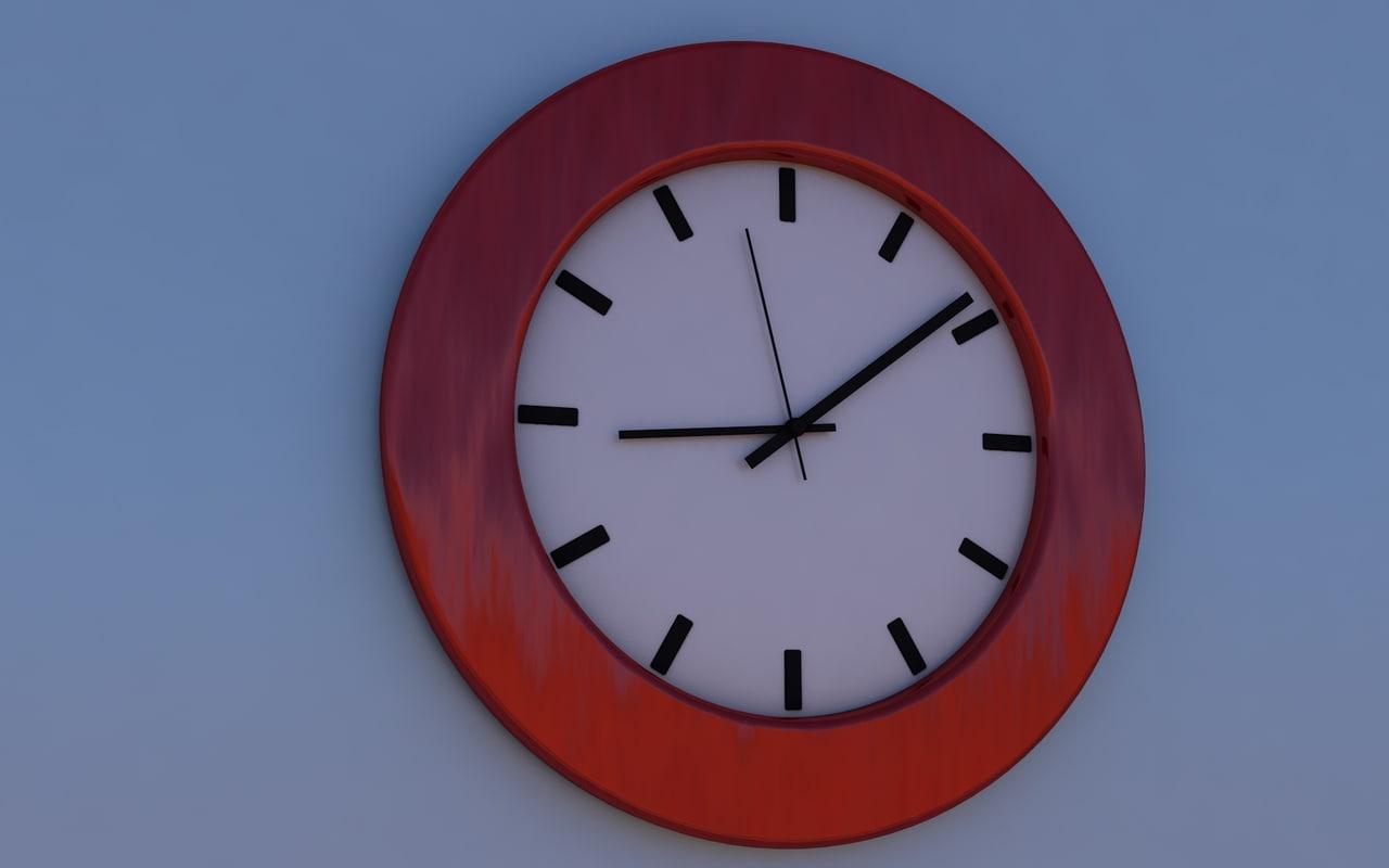 modern wall watch 3d model