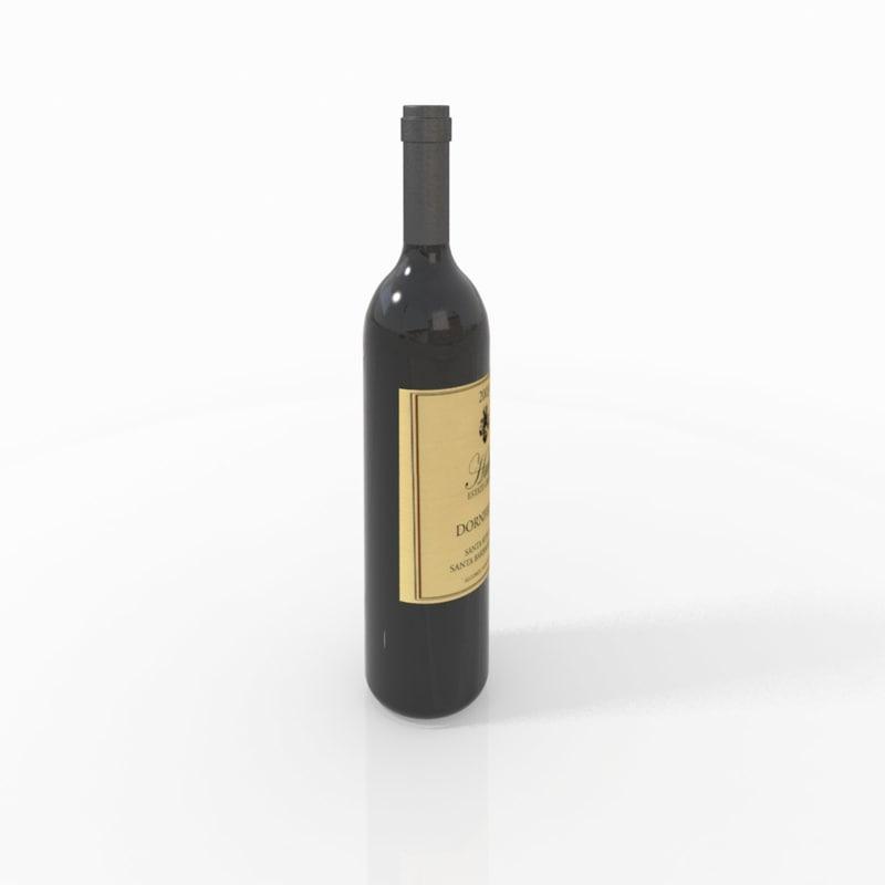 wine bottle 3ds