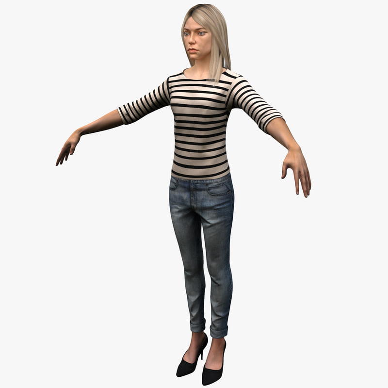 3d young white female