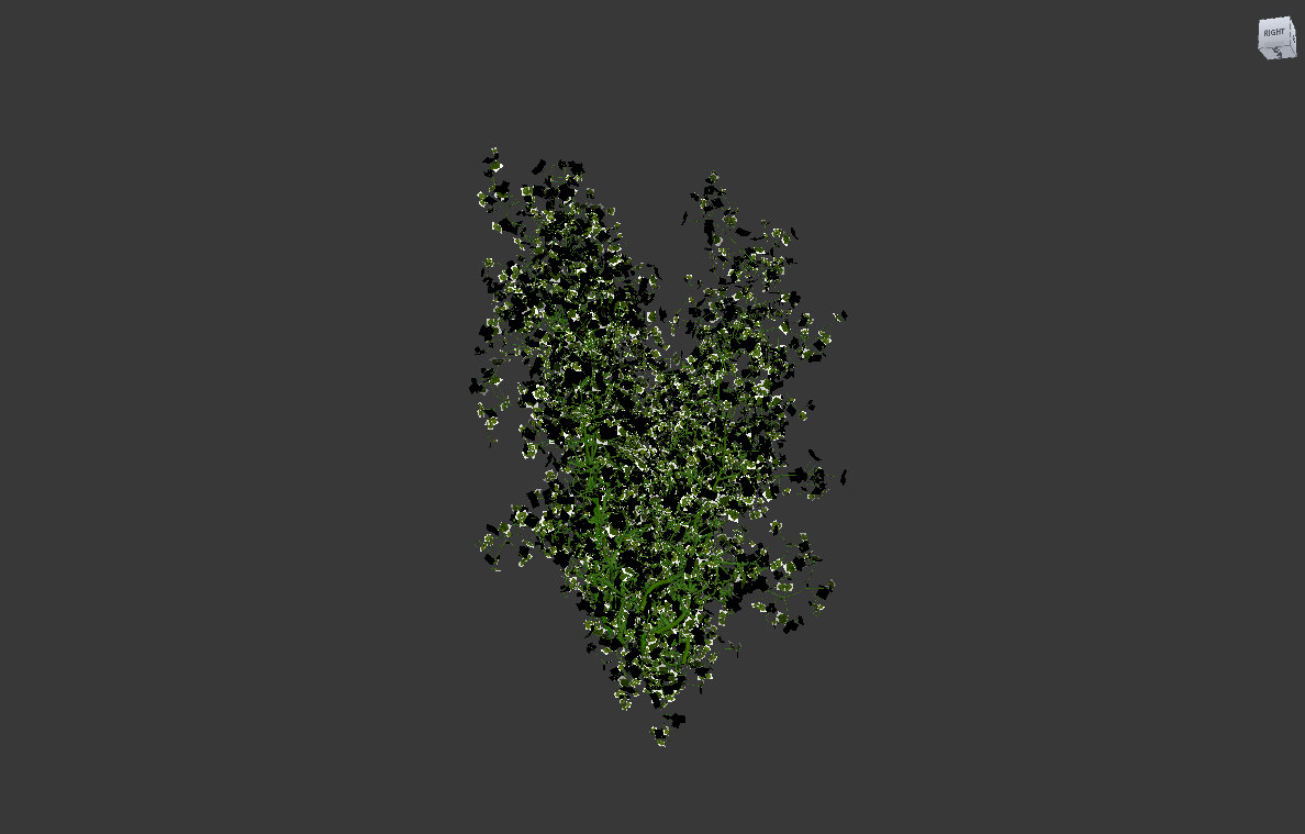 3d creepy plant model
