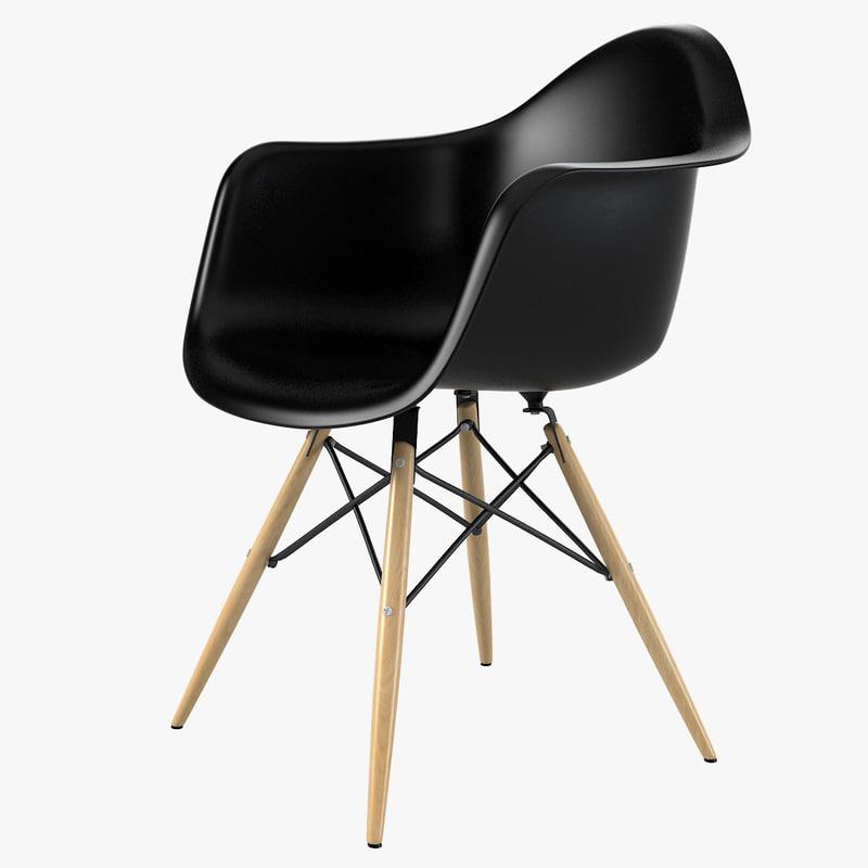 3ds max daw plastic chair charles eames