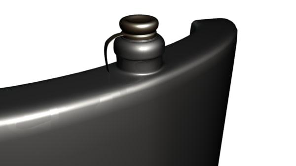 steel flask 3d model