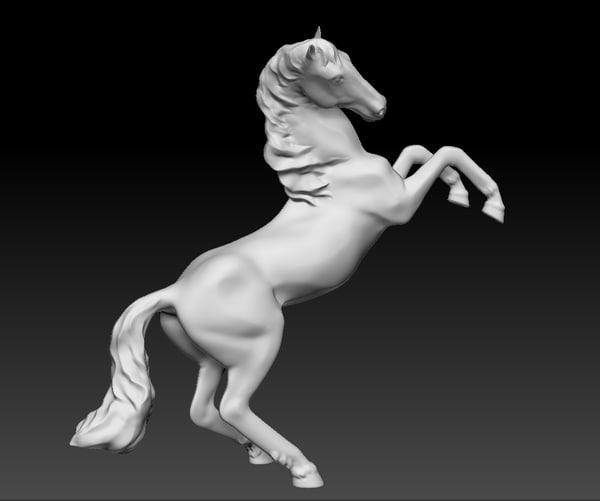 3d model statuette horse