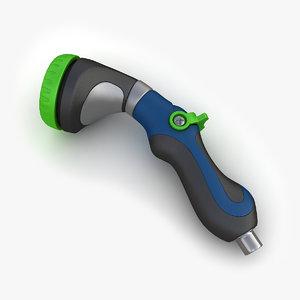 3d model hose nozzle 02