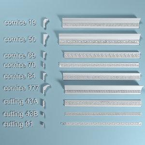 3d cornice set peterhof model