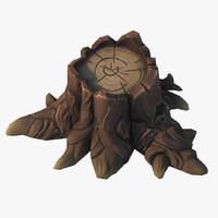 3d cartoon stump