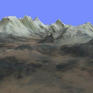 3d model terrain alm-07