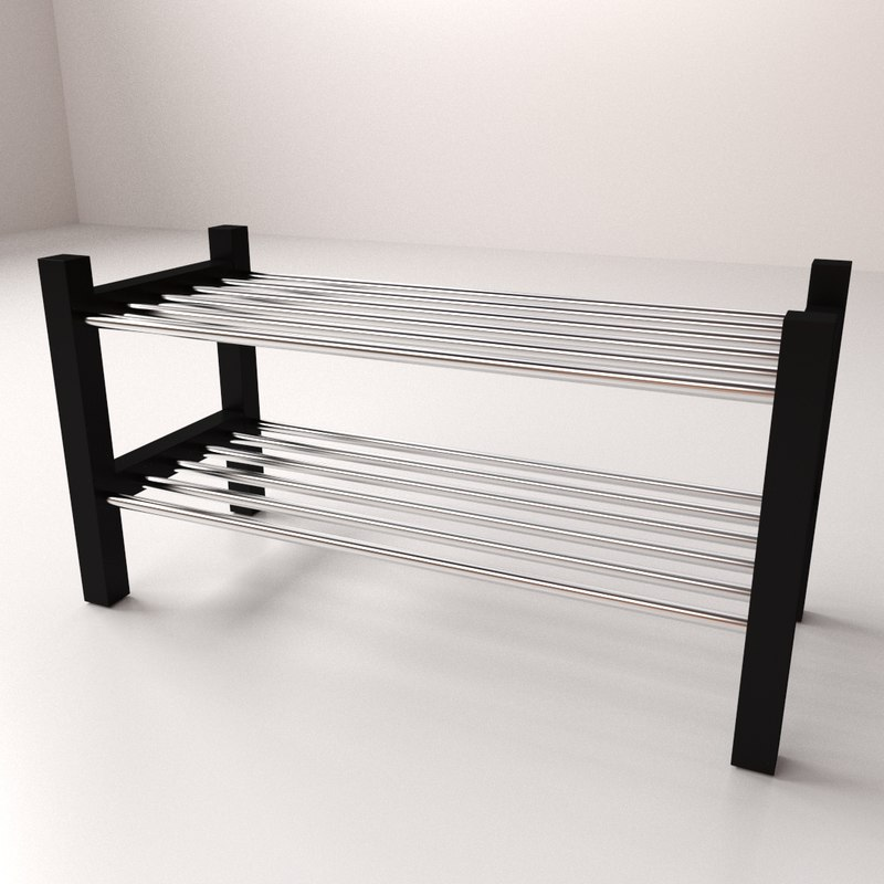 shoe rack 3d 3ds