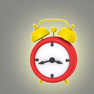 cartoon alarm clock 3d model