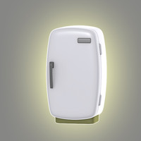 cartoon refrigerator 3d max