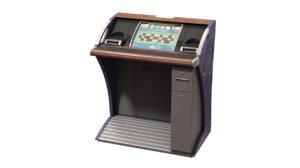 single player roulette cabinet 3d model
