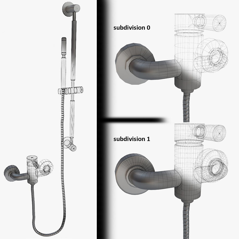 3d bath faucets handshower 01 model
