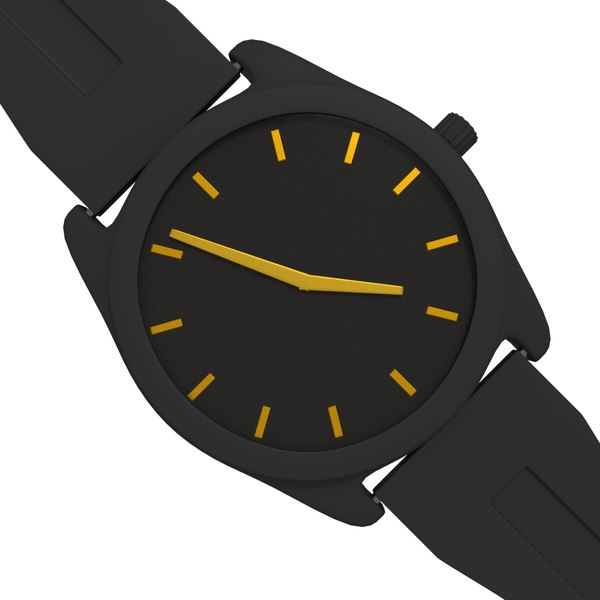 free black watch 3d model