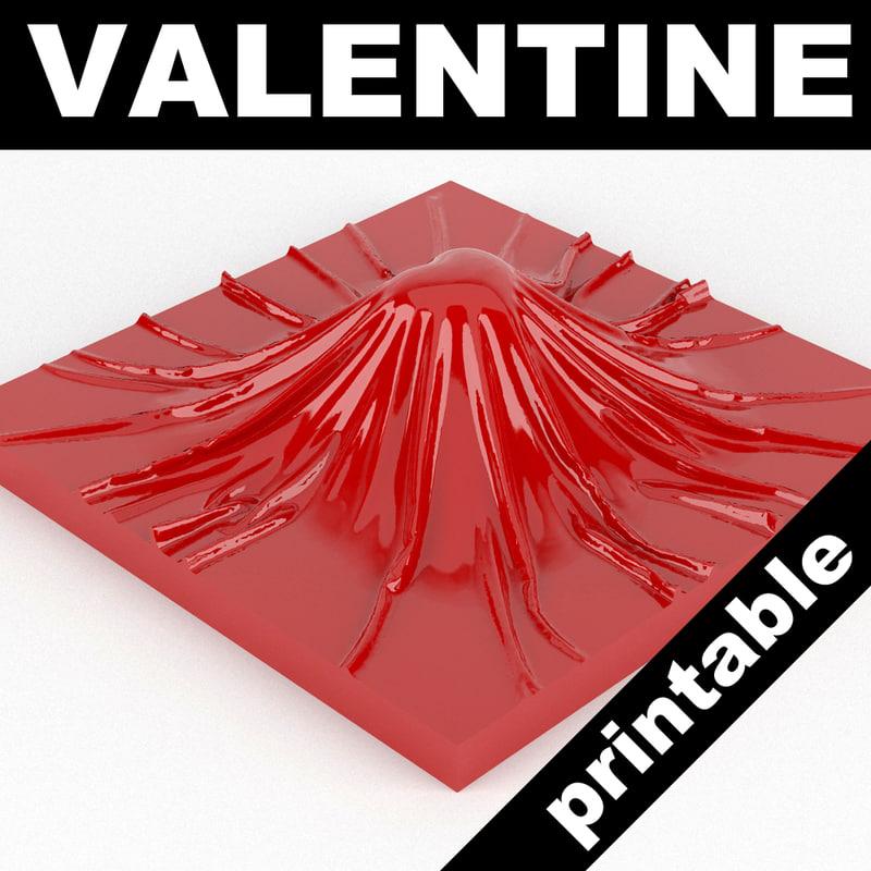 valentine heart 3d max