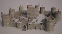 medieval castle set 3ds