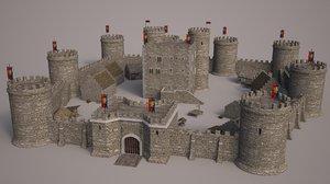 medieval castle set 3ds