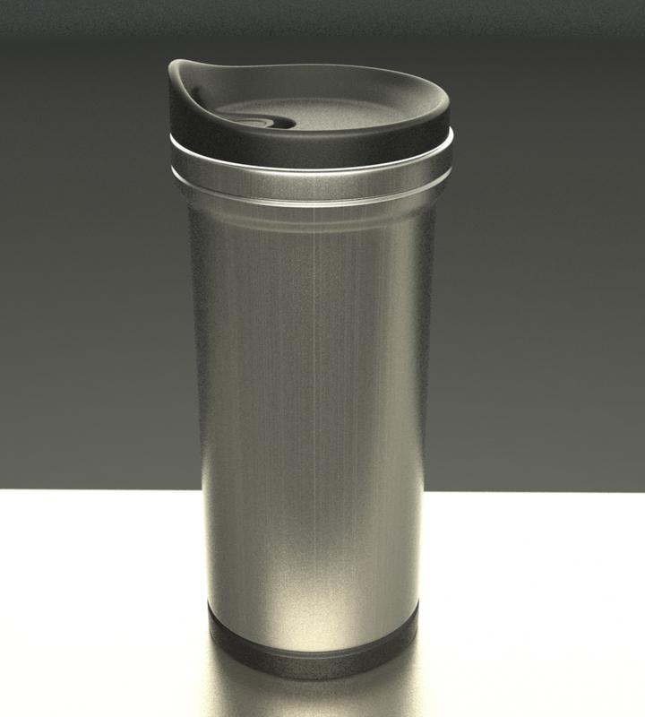 thermal coffee mug 3d max