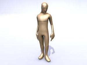 3d model joe pleb human v2
