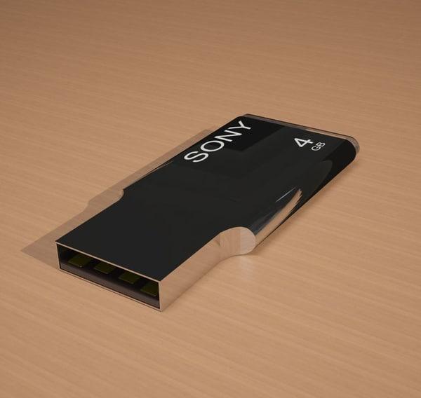 usb pendrive drive 3d model