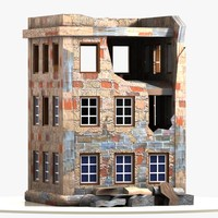 3ds max cartoon wrecked building