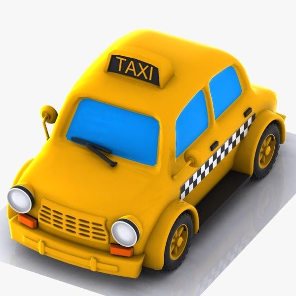 taxi car cartoon 3ds