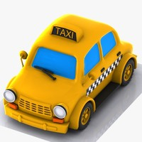 taxi car cartoon 3ds