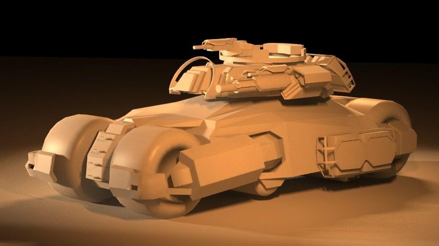tank turret 3d model