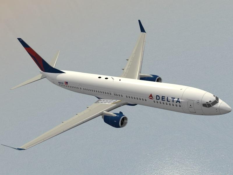 boeing 737-900 er delta 3ds