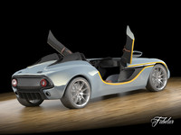 aston martin cc100 rigged car 3d model