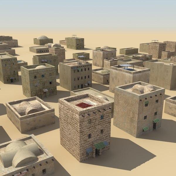 3d model biblical buildings ancient