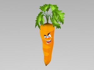 free angry carrot 3d model