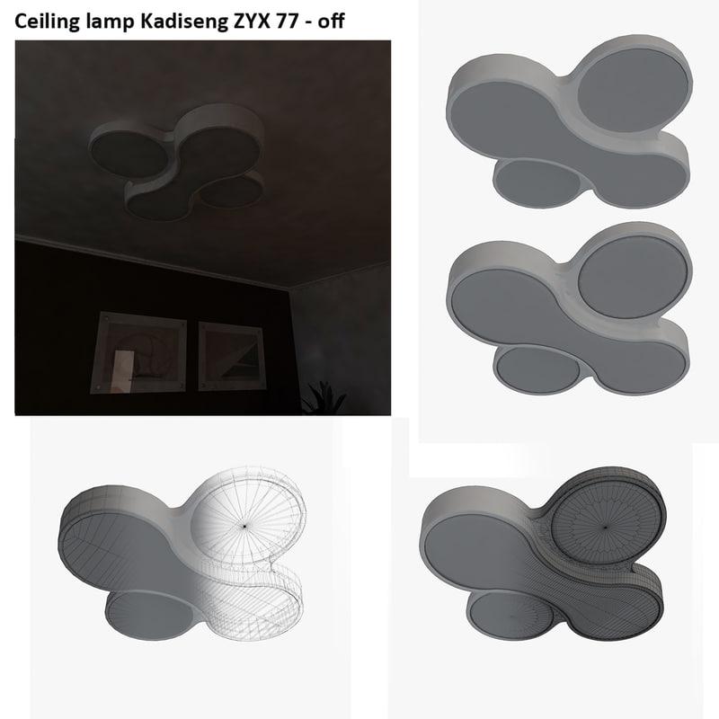 ceiling lamp kadiseng zyx 3d 3ds