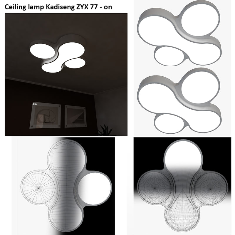 ceiling lamp kadiseng zyx 3d max