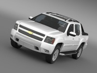 3d model chevrolet avalanche z71
