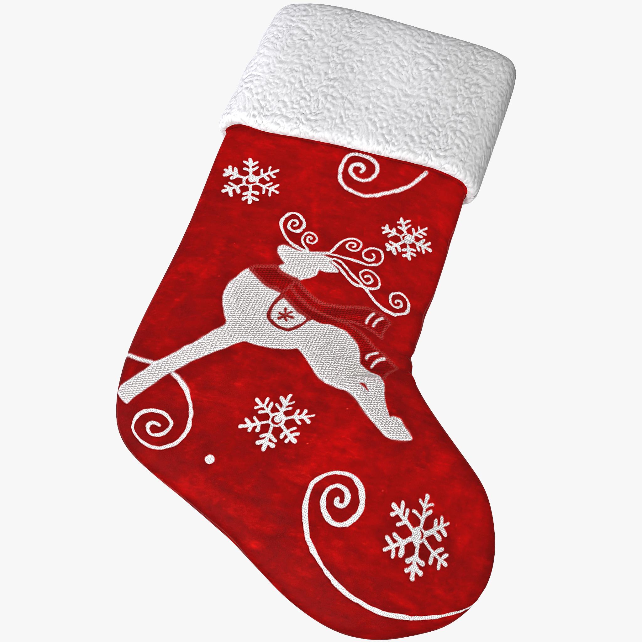 3d model christmas stocking 2