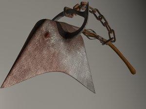 axe bull beheader 3d model