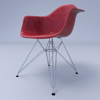 c4d eames arm chair metal wire