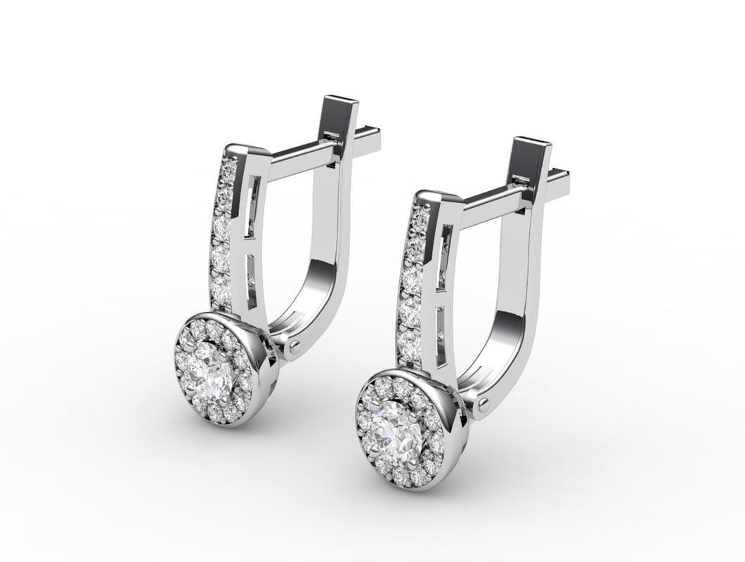 3dm earrings gold
