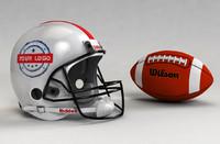 3d football helmet ball