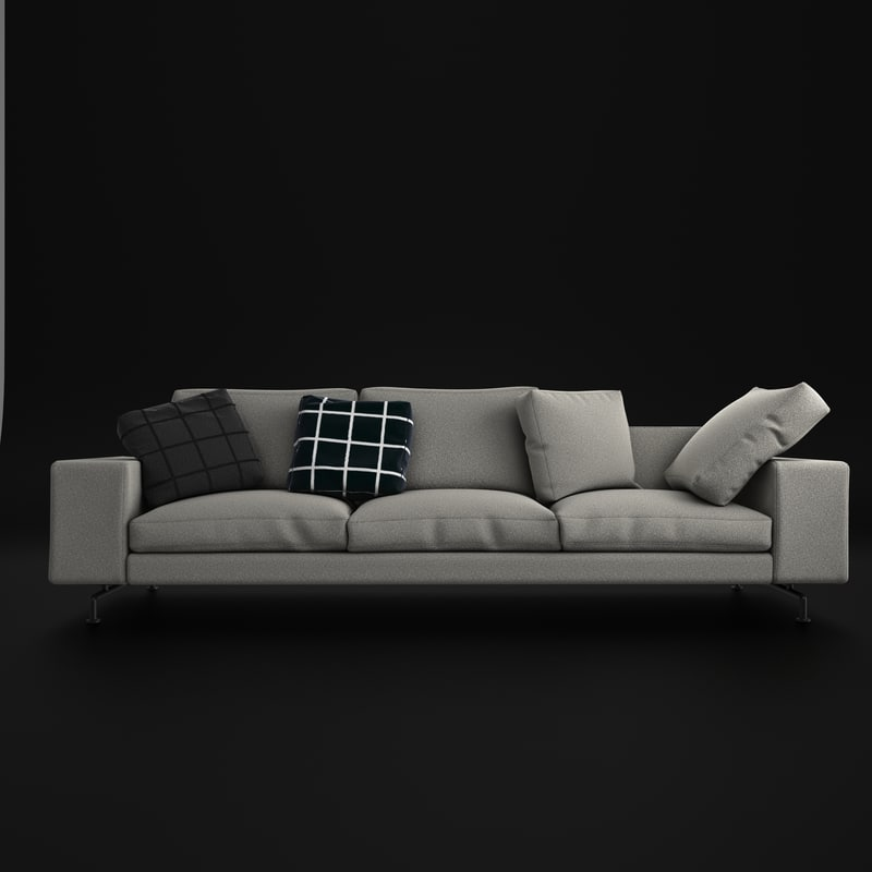 3d model minotti couch