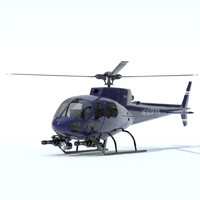 3d helicopter eurocopter mini model