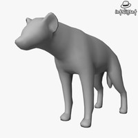 Low Poly Hyena