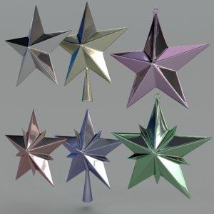 stars tree 3d model