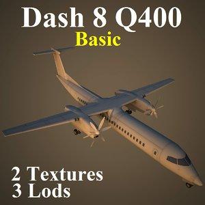 bombardier dash 8 q400 3d max